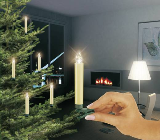 funk weihnachtsbaum beleuchtung innen batteriebetrieben 14 led warm wei lumix 75122. Black Bedroom Furniture Sets. Home Design Ideas