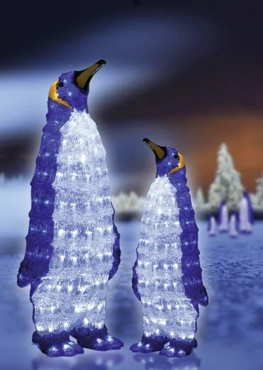 Acryl-Figur Pinguin Kalt-Weiß LED Konstsmide 6118-203 Weiß, Blau