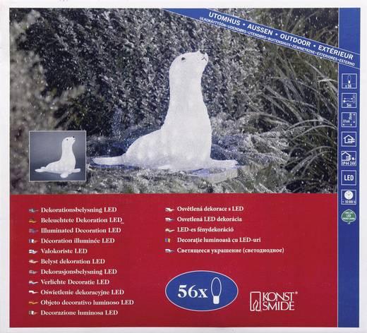 Acryl-Figur Seehund Kalt-Weiß LED Konstsmide 6151-203 Weiß