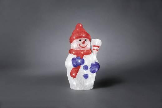 Acryl-Figur Schneemann Kalt-Weiß LED Konstsmide 6154-203 Bunt