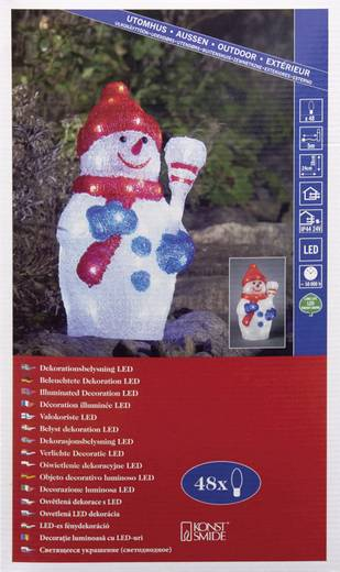 Konstsmide 6154-203 Acryl-Figur EEK: A (A++ - E) Schneemann Kalt-Weiß LED Bunt