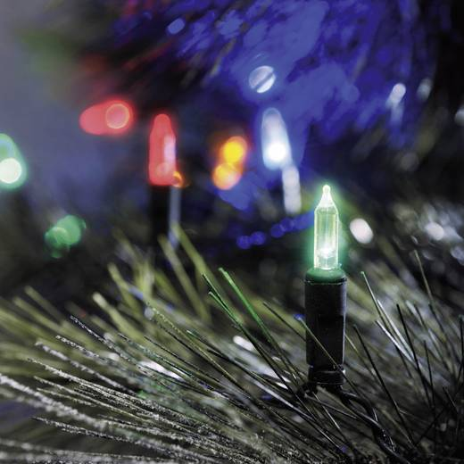 Konstsmide 6004-500 Mini-Lichterkette Außen EEK: A (A++ - E) netzbetrieben 40 LED Bunt Beleuchtete Länge: 8.85 m