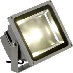 Projecteur LED extérieur blanc chaud SLV Outdoor Beam 30 W gris-argent