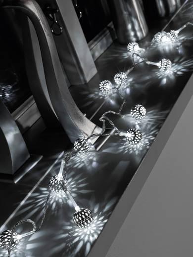Konstsmide 3188-303 Motiv-Lichterkette Kugeln Innen batteriebetrieben 10 LED Warm-Weiß