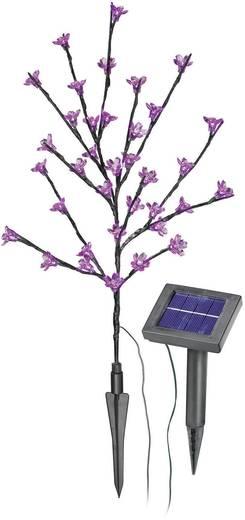 Solar-Dekoleuchte Blütenstrauch LED 0.6 W Pink Esotec Arbuste 102104 Anthrazit