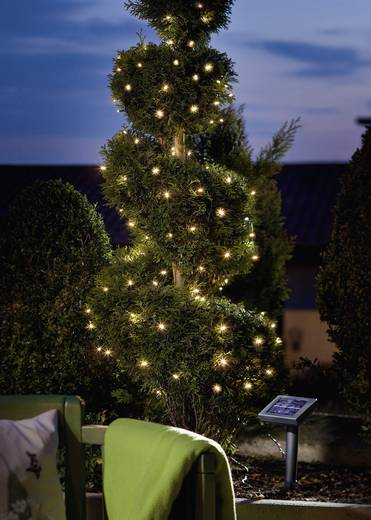 Solar-Lichterkette solarbetrieben LED Warm-Weiß Beleuchtete Länge: 10 m Esotec 102102