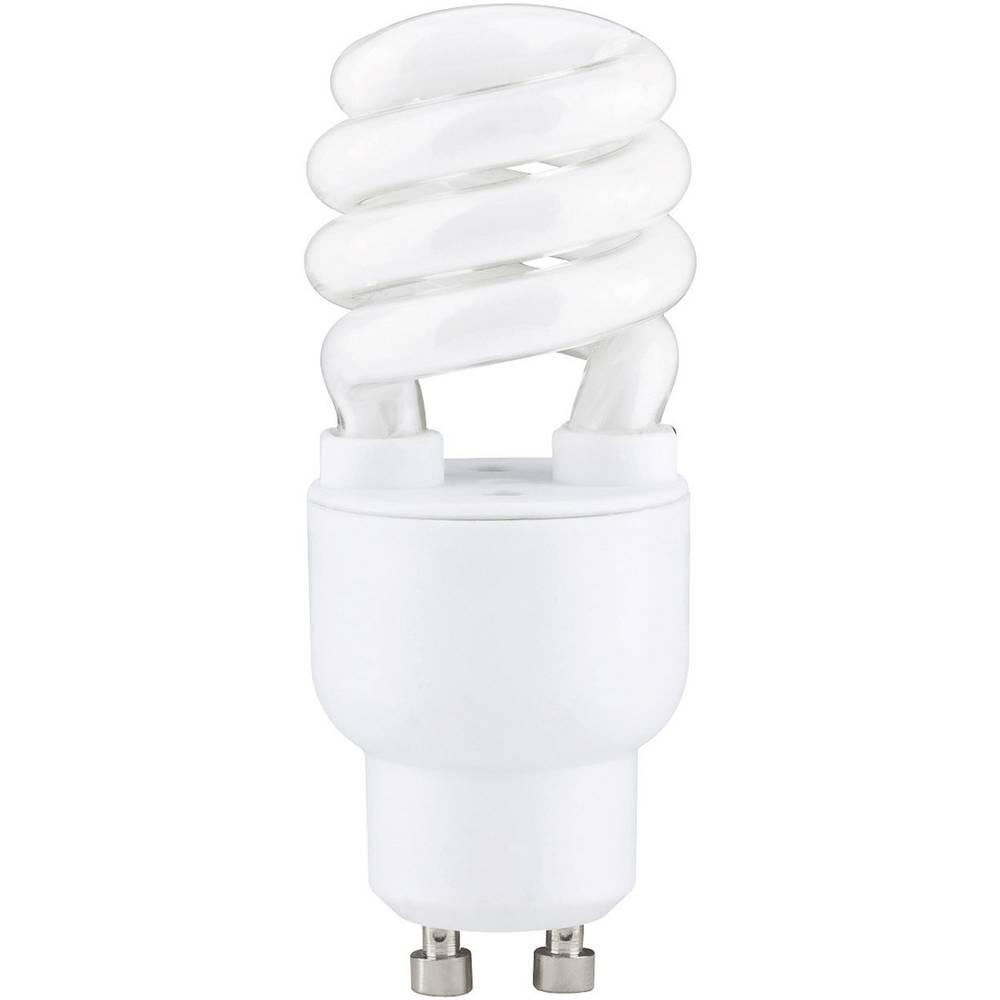 ampoule conomie d 39 nergie paulmann gu10 7 w 30 w blanc chaud forme spiral e 1 pc s. Black Bedroom Furniture Sets. Home Design Ideas