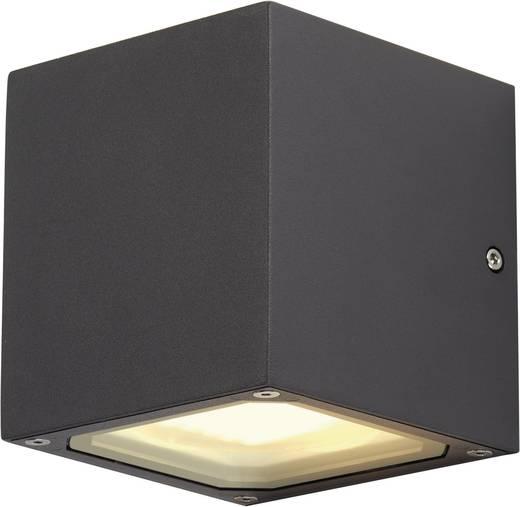 SLV Sitra Cube 232535 Außenwandleuchte Energiesparlampe, LED GX53 18 W Anthrazit