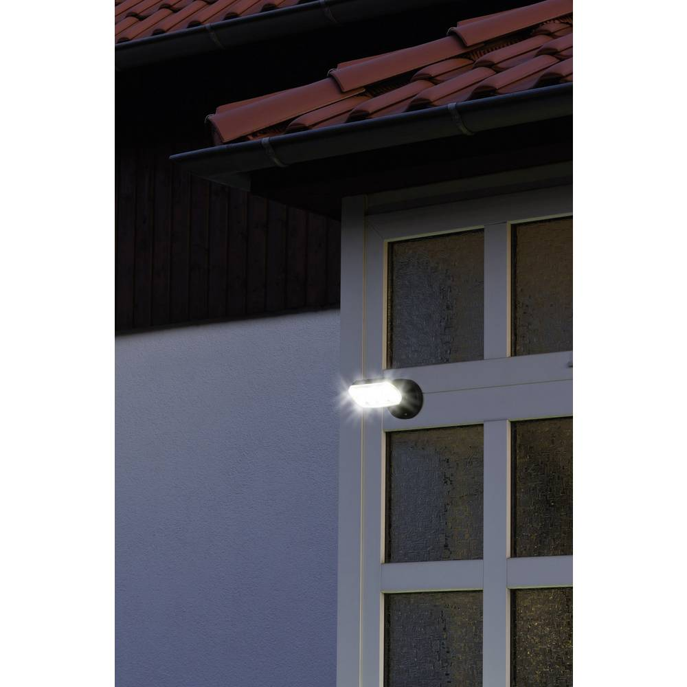 Projecteur led ext rieur blanc neutre noir sur le site for Projecteur exterieur maison