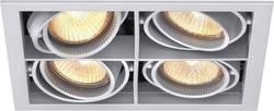 Halogenové vestavné světlo Sygonix Olbia, 4x 50 W, GU5.3, černá/bílá