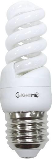 Energiesparlampe 96 mm LightMe 230 V E27 9 W Warmweiß EEK: A Spiralform 1 St.