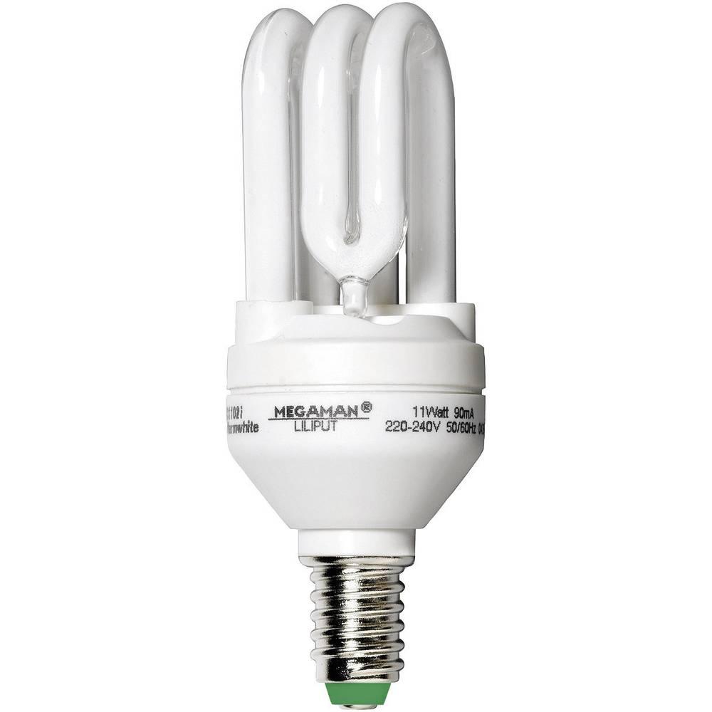 ampoule conomie d 39 nergie megaman e14 11 w blanc chaud forme de tube 1 pc s sur le site. Black Bedroom Furniture Sets. Home Design Ideas