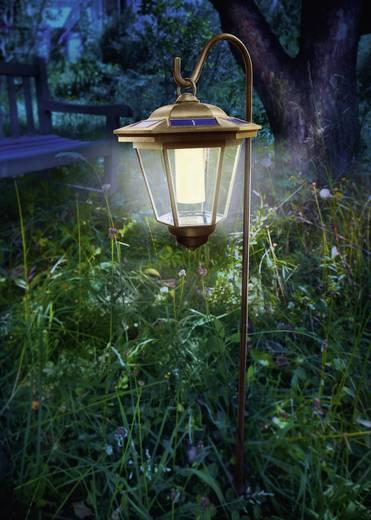 Solar-Gartenleuchte Laterne LED Warm-Weiß Renkforce 1011TH-6/W-Y Kupfer