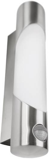 Außenwandleuchte mit Bewegungsmelder Energiesparlampe, LED E27 11 W Philips 163404716 Edelstahl