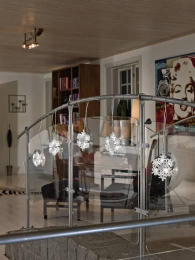 Lichtervorhang-Schneeflocken Innen 24 V 30 LED Kalt-Weiß (L x B x H) 9 m x 400 cm x 15 cm Konstsmide