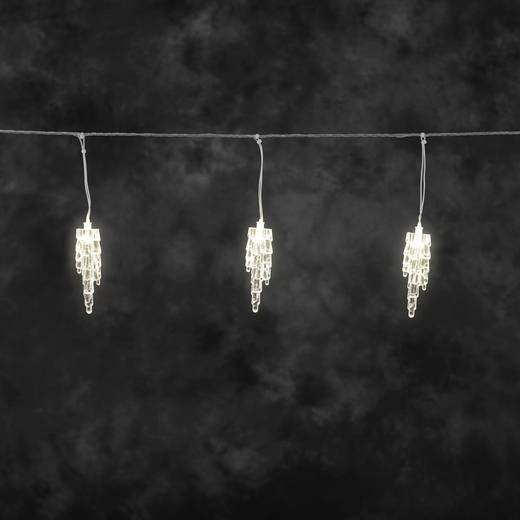 Lichtervorhang-Eiszapfen Außen 24 V 20 LED Warm-Weiß (B x H) 400 cm x 22 cm Konstsmide