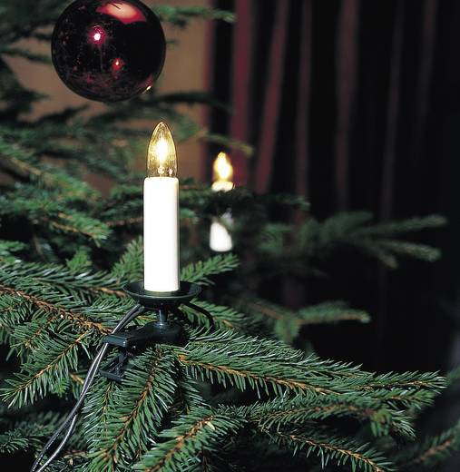 weihnachtsbaum beleuchtung innen netzbetrieben 25 gl hlampe klar beleuchtete l nge 16 8 m. Black Bedroom Furniture Sets. Home Design Ideas