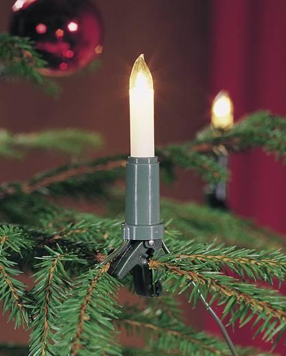 Weihnachtsbaum-Beleuchtung Innen netzbetrieben 15 Glühlampe Warm-Weiß Beleuchtete Länge: 10.5 m Konstsmide 1120-000