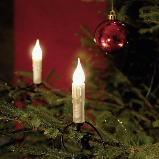 Weihnachtsbaum-Beleuchtung Innen netzbetrieben 15 Glühlampe Warm-Weiß Beleuchtete Länge: 9.8 m Konstsmide 2313-000