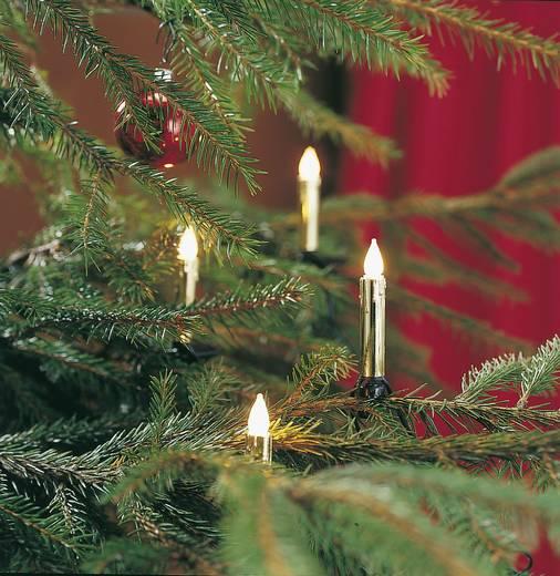 Weihnachtsbaum-Beleuchtung Innen netzbetrieben 20 Glühlampe Warm-Weiß Beleuchtete Länge: 5.7 m Konstsmide 2316-800