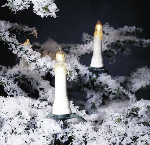Weihnachtsbaum-Beleuchtung Außen netzbetrieben 16 Glühlampe Warm-Weiß Beleuchtete Länge: 10.5 m Konstsmide 1001-000