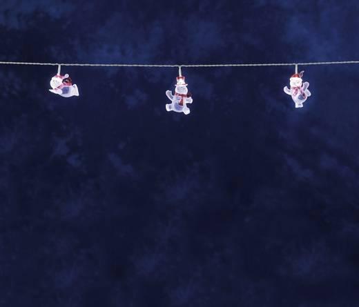 Konstsmide 1299-203 Motiv-Lichterkette Schneemänner Innen EEK: A (A++ - E) 8 LED Kalt-Weiß