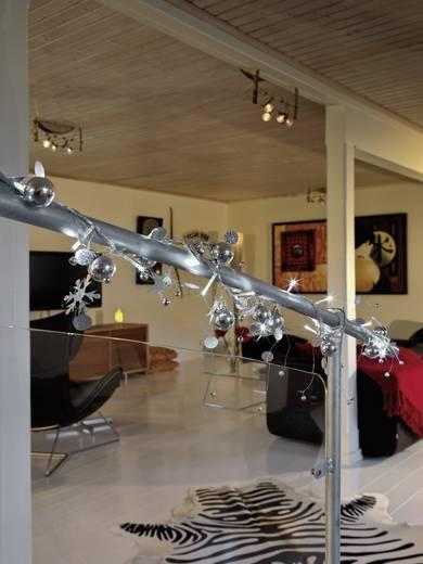 LED Deko-Lichterkette Perlen und Schneekristalle