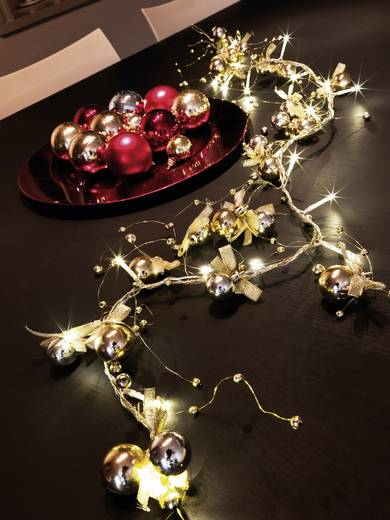 LED Deko-Lichterkette Perlen und Schleifen