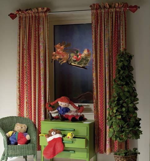 Fensterbild Rentier mit Weihnachtsmann und Schlitten