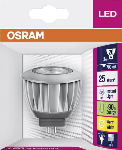 osram superstar mr11 12 v led leuchtmittel 12v gu4 3w warm wei reflektor kaufen. Black Bedroom Furniture Sets. Home Design Ideas