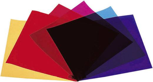 Farbfolienbogen 6er Set Eurolite Rot, Blau, Grün, Gelb, Lila, Violett Passend für (Bühnentechnik)PAR-64, PAR 36, PAR-56