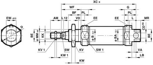 Rundzylinder Norgren RM/8016/M/25 Hublänge: 25 mm Produktabmessung, Ø: 16 mm