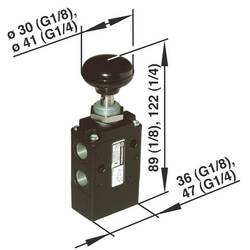 Elektromagnetický ventil Norgren 03040402, 3/2-cestné, G 1/8