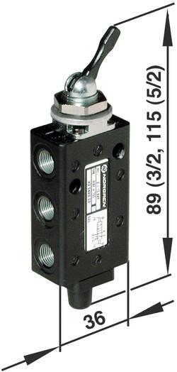Vanne pneumatique à commande mécanique 3/2 voies Norgren 03040302 G 1/8 Pression maxi: 10 bar 1 pc(s)
