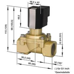 2/2-cestný elektromagnetický ventil Busch Jost 8254300.9154.23049, G 3/4, 230 V/AC