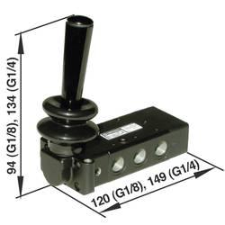Mechanicky odolný ventil pneumatiky Norgren X3067702, 5/2-cestné, G 1/4
