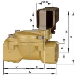 2/2-cestný elektromagnetický ventil Busch Jost 8240400.9101.23050, G 1, 230 V/AC