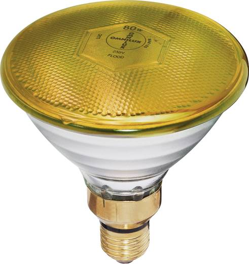 halogen lichteffekt leuchtmittel par 38 fl gelb 230 v e27 80 w gelb dimmbar. Black Bedroom Furniture Sets. Home Design Ideas