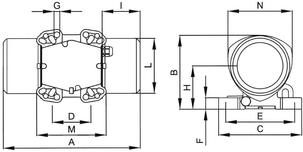 Electric vibrator Netter Vibration NEG 2530 230 V/400 V ...