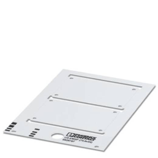 Gerätemarkierung Montageart: schrauben, nieten Beschriftungsfläche: 74.50 x 53.70 mm Passend für Serie Baugruppen und Sc