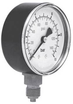 """Manomètre ICH 301.63.10 Raccordement par le dessous 0 à 10 bar Filetage extérieur 1/4"""" 1 pc(s)"""