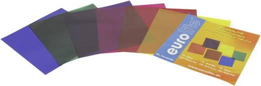 Farbfolienbogen 6er Set Eurolite Rot, Blau, Grün, Gelb, Lila, Violett Passend für (Bühnentechnik)PAR 36, PAR-56