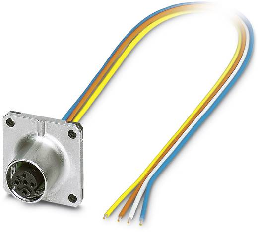 Sensor-/Aktor-Einbausteckverbinder M12 Buchse, Einbau 0.50 m Polzahl: 4 Phoenix Contact 1441639 SACC-SQ-M12FSD-4CON-20/0