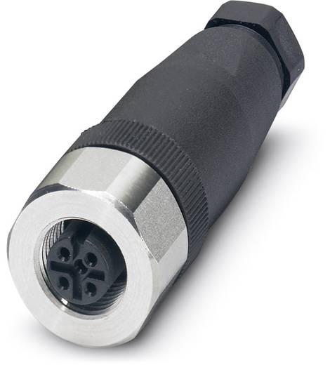 Sensor-/Aktor-Steckverbinder, unkonfektioniert M12 Buchse, gerade Polzahl (RJ): 4 Phoenix Contact 1553242 SACC-M12FS-4C