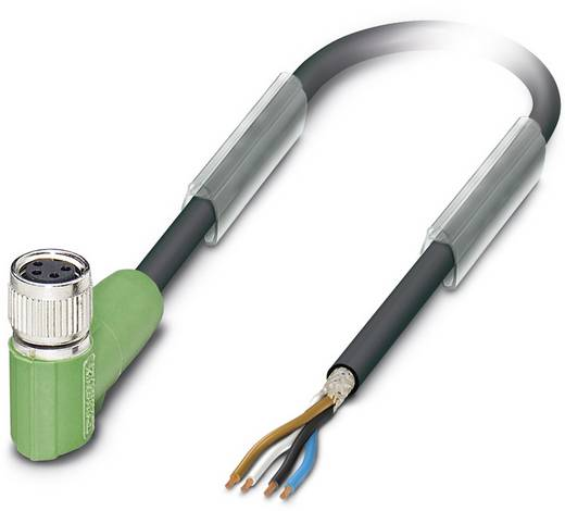 Sensor-/Aktor-Steckverbinder, konfektioniert M12 Buchse, gewinkelt 10 m Polzahl: 4 Phoenix Contact 1521999 SAC-4P-10,0-P