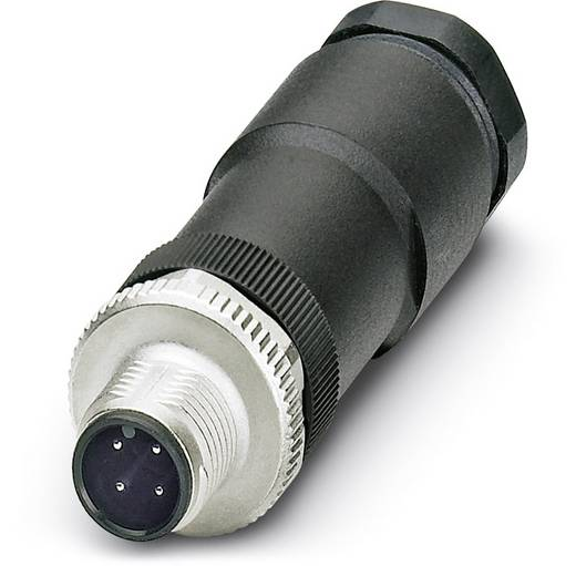 Sensor-/Aktor-Steckverbinder, unkonfektioniert M12 Stecker, gerade Polzahl: 4 Phoenix Contact 1404415 SACC-M12MS-4CON-P