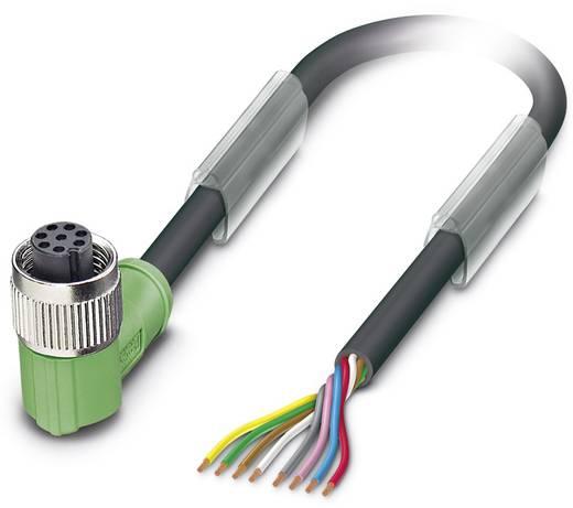 Sensor-/Aktor-Steckverbinder, konfektioniert M12 Buchse, gewinkelt 3 m Polzahl: 8 Phoenix Contact 1522639 SAC-8P- 3,0-PU