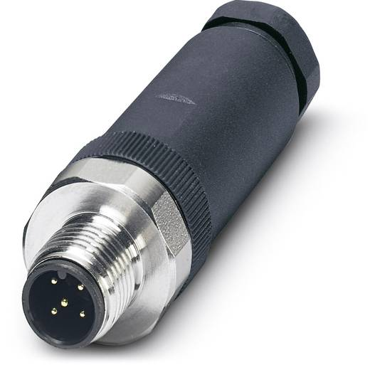 Sensor-/Aktor-Steckverbinder, unkonfektioniert M12 Stecker, gerade Polzahl: 5 Phoenix Contact 1553190 SACC-M12MS-5CON-P
