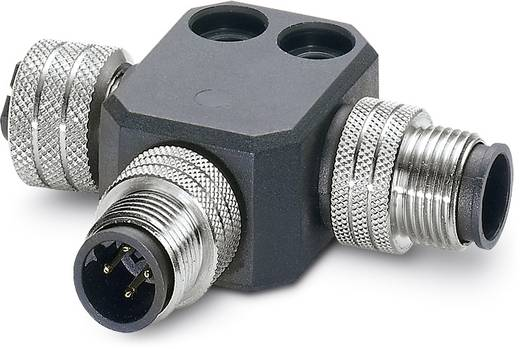 Sensor-/Aktor-Verteiler und Adapter M12 SPEEDCON Adapter, T-Form Polzahl (RJ): 5 Phoenix Contact 1440672 SAC-M12T/2XM1