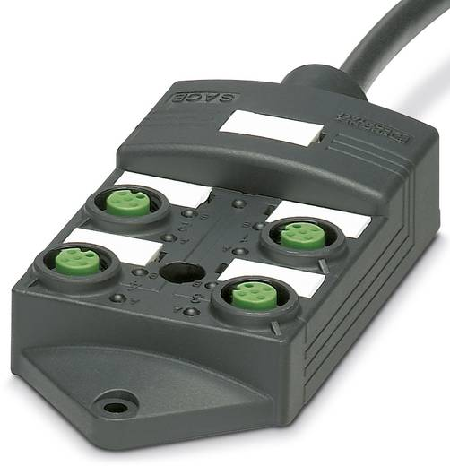 Sensor/Aktorbox passiv M12-Verteiler mit Kunststoffgewinde SACB 4/8-L-P 5,0PUR SCO 1452602 Phoenix Contact 1 St.